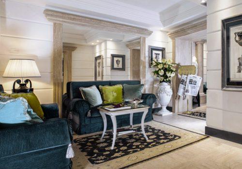 Hall entrance Hotel Barocco Rome, Sister Hotels Monastero di Cortona Hotel & Spa - Hotel Cortona Tuscany