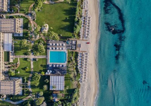 Aerial View of La Villa del Re, Sister Hotels Monastero di Cortona Hotel & Spa - Hotel Cortona Tuscany