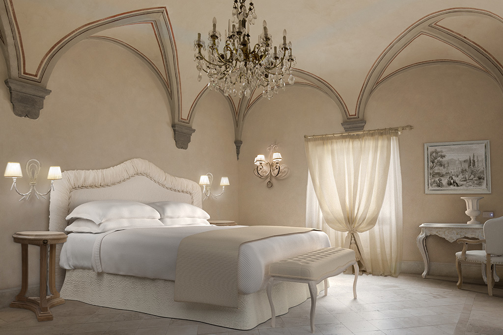Panoramic view of a Junior Suite - Monastero di Cortona Hotel & Spa - Hotel Cortona Tuscany