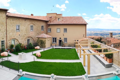 Panoramic view of Monastero di Cortona Hotel & Spa - Hotel Cortona Tuscany